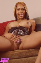 Sexxxy jade. Jade sexxy and excited on  the couch